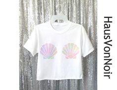 Sirène Shell chemise Pastel Tumblr Shell Sweatshirt par HausVonNoir