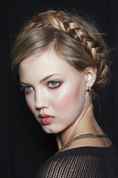 The Prettiest Braided Updos to Copy From theRunway | Beauty High