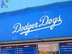 A Dodger dog while watching a game, then dropping by LAPD Academy next door.  Good times!