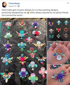 Face Gems, Face Jewels, Rhinestone Crafts, Diy Projects To Try, Face And Body, Body Painting, Bling Bling, Beaded Jewelry, Crochet Necklace