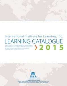 International Institute for Learning - 2015 Learning Catalogue - Front Cover