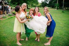 Talk about colour-pop – a perfect summer wedding! © mattbowenphotography.co.uk
