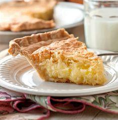 French Coconut Pie Coconut Desserts, Coconut Recipes, Tart Recipes, Sweet Recipes, Delicious Desserts, Buttermilk Coconut Pie Recipe, Oven Recipes, Bread Recipes, Baking Recipes
