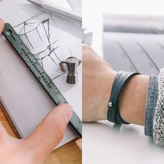 """RULER BRACELET Center engraved with the quote """"Not everything that counts, can b. Fancy Shop, Bar Fancy, Jewelry Gifts, Mens Jewellery, Jewelery, Jewelry Trends, Ruler, Cool Gifts, Leather Craft"""