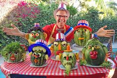 Uncle Watermelon Is Perfect for the Fourth of July! 4th Of July Watermelon, Halloween Cans, Family Humor, Firecracker, Party Activities, Party Centerpieces, Food Art, Fun Food, Summer Treats