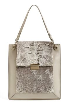 Jason Wu 'Christy' Genuine Astrakhan Fur & Leather Tote | Nordstrom