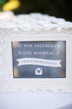 Social Media Wedding Signs  Wedding Reception Photos on WeddingWire