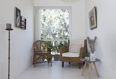 my scandinavian home: Small space inspiration: a light-filled home in rural Israel Small Stool, Nordic Home, Interior Inspiration, Design Inspiration, Scandinavian Style, Cozy House, Lodges, Rattan, Small Spaces