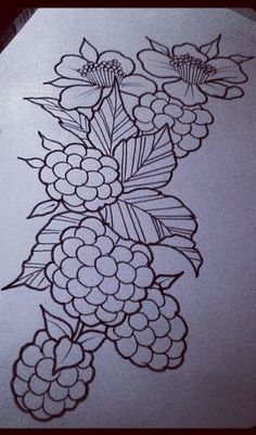 Raspberries | Tattoo Ideas - Sleeve Left | Pinterest