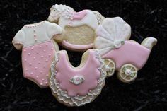 Baby shower cookie favors rocking horse von 4theloveofcookies