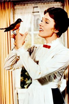 Julie Andrews as Mary Poppins.  Her very first film and she received an Academy Award for Best Actress.