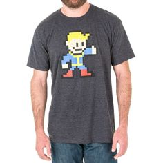 Men's 52% cotton / 48% poly charcoal heather t-shirt with 6-color screenprint on front.