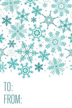 snow label Free Printable Christmas Gift Tags, Christmas Labels, Holiday Gift Tags, Christmas Printables, Aqua Christmas, Christmas Holidays, Christmas Crafts, Christmas Ideas, Xmas