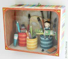 """""""Peinture"""" - Photo de BOITES ET CADRES DISPONIBLES * Available boxes and frames - Tibout de blog"""
