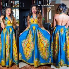 Blu Dashiki V cut by THEAFRICANSHOP on Etsy ~Latest African Fashion, African Prints, African fashion styles, African clothing, Nigerian style, Ghanaian fashion, African women dresses, African Bags, African shoes, Kitenge, Gele, Nigerian fashion, Ankara, Aso okè, Kenté, brocade. ~DK
