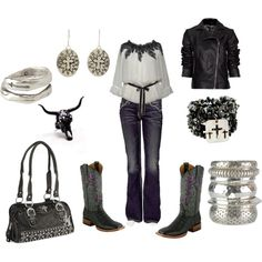 """Whimsy Cowgirl"" by marisa-rae-julian on Polyvore (for mom)"