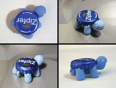 Cute bottle cap miniature turtle fridge magnet. A very unique collectible for turtles / tortoises lovers. It is also perfect for displaying your To-Do notes or photos on the fridge, or you can just put it on your table, next to your PC, in your office or anywhere else. Surely it'll make you smile whenever you look at it! This beer cap mini turtle upcycled refrigerator magnet is hand crafted, and has a strong neodymium magnet attached to each of its 4 legs, so your items will stay put!