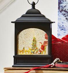Christmas Water /& Glitter LED Lantern Angel Light Up Xmas Decoration Ornament