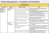 Project Management templates and checklists