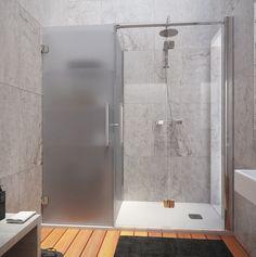 Konvert solución a medida plato de ducha y almacenamiento Profiltek Beautiful Home Designs, Beautiful Homes, Washroom, Master Bathroom, Colores Ral, Bathroom Layout Plans, Bathroom Organization, Bathroom Renovations, Bathroom Inspiration