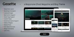 Gazette - a responsive Ghost Magazine and Blog Theme #ghost #webdesign #blog #magazine #design Demo: gazette.bironthemes.com