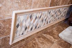 Detailed work in a bathroom! #renovation #tile