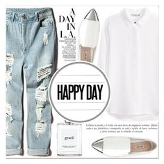 """""""Happy Day"""" by lucky-1990 ❤ liked on Polyvore featuring H&M, Miu Miu, philosophy and Sinclair"""