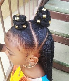 There are many cute hairstyles for both young and adolescent girls. Girls Natural Hairstyles, Baby Girl Hairstyles, Natural Hairstyles For Kids, Black Girls Hairstyles, Braided Hairstyles, Trendy Hairstyles, Kids Natural Hair, Children Hairstyles, Braids For Kids
