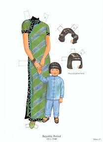 Traditional Chinese Fashion paper dolls - Hagyományos Kinai viseletek papírbabák - Nena bonecas de papel - Picasa Web Albums