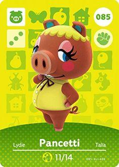 Nintendo Animal Crossing Happy Home Design Pancetti Amiibo Card 085 USA Version #Nintendo