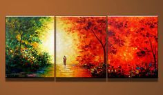 Original Painting, 3 pieces Handmade Abstract Oil Painting, Large Canvas Oil Painting, Wall Art, Home decor, Living room, bedroom decor.