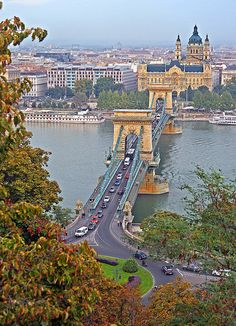 Chains's Bridge, Budapest, Hungary    I was there ... would love to go back there one day!