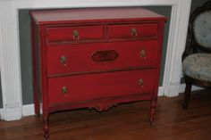 painted red dressers | Chinese Red Painted Dresser with Lion Head Hardware ~ ... | For the H ...