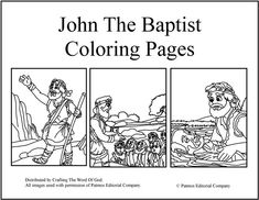 john the baptist coloring page - picture of sacrament of reconciliation confession coloring