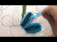 151.- Bordado fantasía flores de la Catarina, My Crafts and DIY Projects