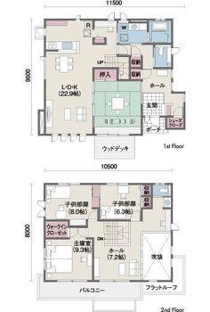 間取り図 Dream House Plans, House Floor Plans, Craftsman Floor Plans, Traditional Japanese House, House Layouts, Japanese Architecture, House Design, My House, How To Plan
