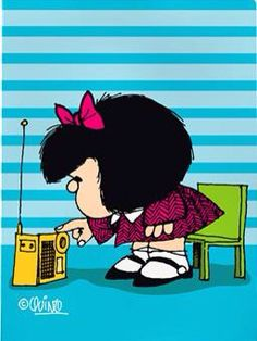 Cartoon Wall, Cute Cartoon, Mafalda Quotes, Cute Characters, Disney Characters, Daddy, Old Comics, Thinking Quotes, Comic Movies