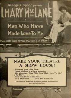 """Mary MacLane in """"Men Who Have Made Love to Me"""""""