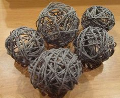 I use this all the time at home. It is the cheapest and most fun way to make those trendy ball centerpieces. Earth tone colors work best and look more like twig knots. (Try blowing up balloons to different sizes for a more unique look.)