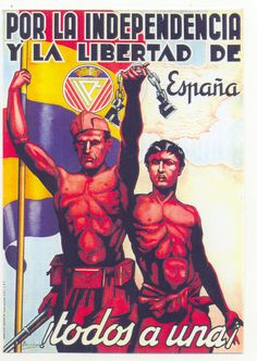 Spain - - GC - poster - autor: Beltran - For independence and freedom of… Ww2 Propaganda Posters, Political Posters, Spanish War, Spanish Posters, Civil War Art, Poster On, World History, Vintage Posters, Michigan