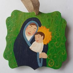 Excited to share the latest addition to my #etsy shop: Mother and child ornament, dual sided ornament, Mary and Jesus ornament, virgin Mary ornament, baby Jesus ornament, Baby's first Christmas #homedecor #greenornament #peaceonearth #christmasgift #christmasdecoration #catholicornament #religiousornament http://etsy.me/2z96uXT
