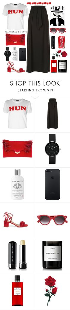 """Hun."" by sabreerae ❤ liked on Polyvore featuring Boohoo, Armani Collezioni, Jimmy Choo, Newgate, Apple & Bears, Aquazzura, Cutler and Gross, Marc Jacobs, Byredo and Hermès"