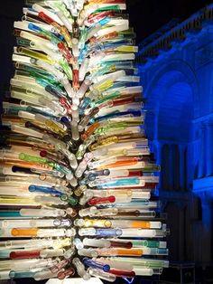 Murano glass Christmas tree, island of Murano, Italy