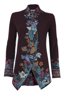 Ivko Plum sweater cardigan fine knit