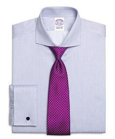 Regular Fit Multistripe French Cuff  Dress Shirt - Brooks Brothers