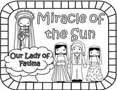 A free printable minibook abour Our Lady of Fatima, with a