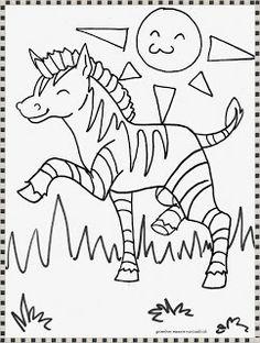 lembar mewarnai gambar zebra