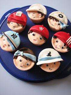 B boy cupcakes