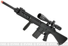 Pre-Order Estimated Arrival: 01/2015 --- Matrix Custom Full Metal SR-25 Airsoft AEG Sniper Rifle