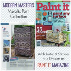 Transforming a Dresser with Modern Masters Metallic Paints